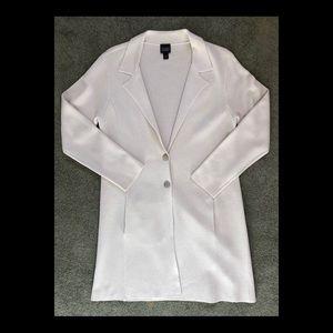 Eileen Fisher Beige Silk / Organic Cotton Cardigan
